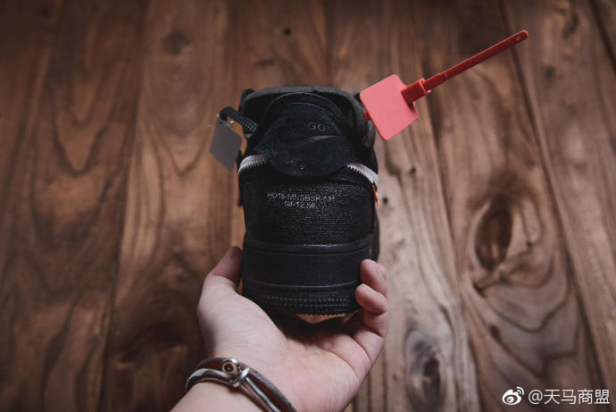 "OFF-WHITE x Nike Air Force 1 LOW OW AF1 ""Black""空军一号黑色低帮板鞋"
